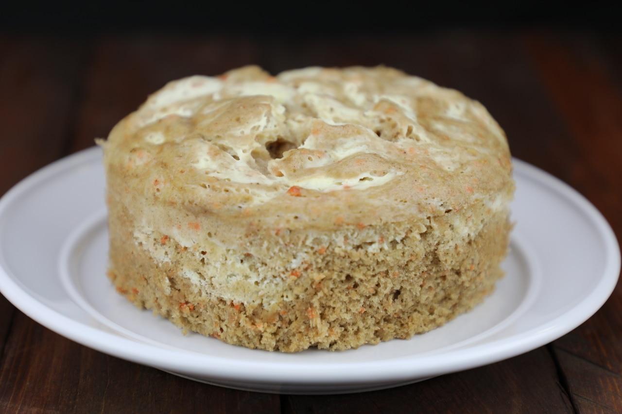 Cream Cheese Swirled Carrot Cake