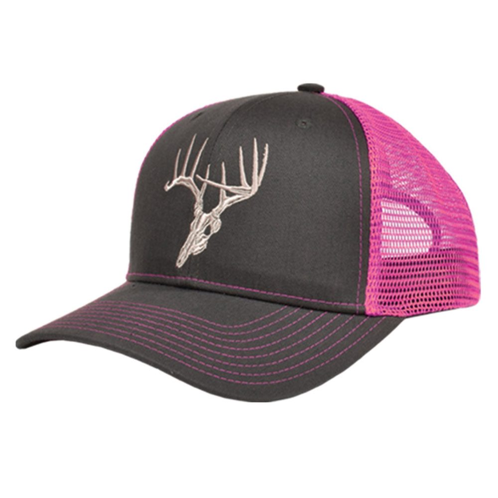 Skullz Outdoors Embroidered Cap charcoal/pink mesh back