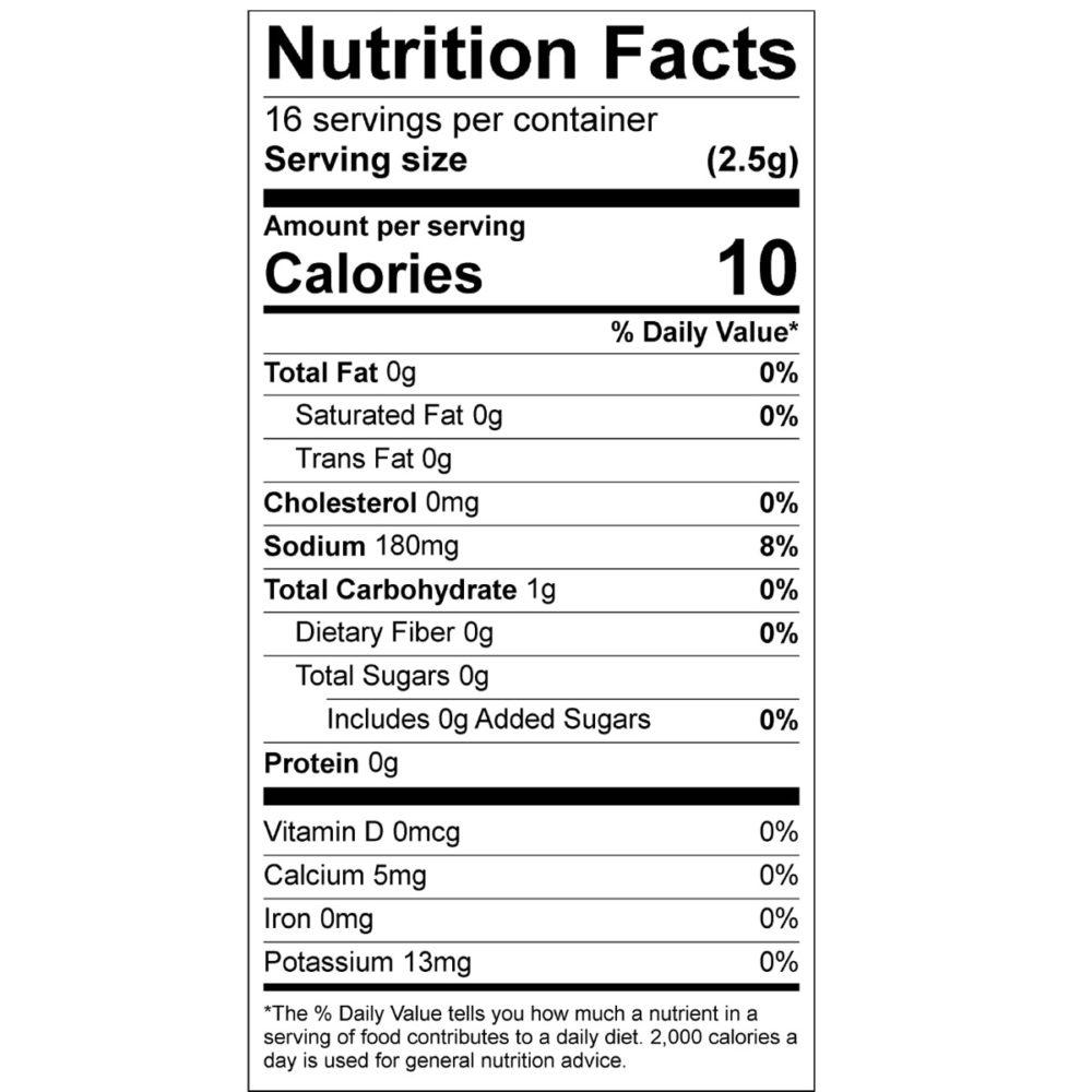 original seasoning nutrition