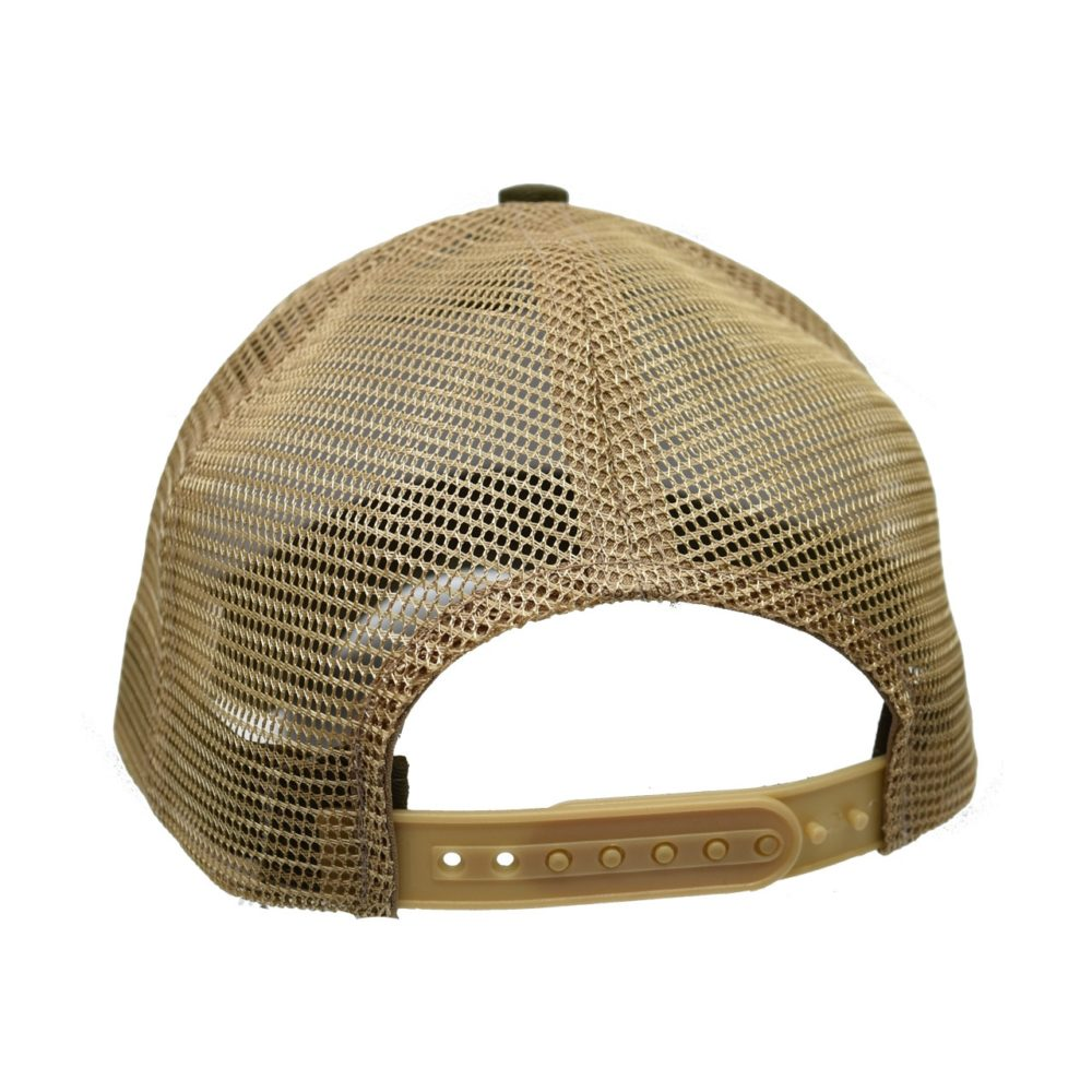 Skullz Outdoors Embroidered Cap olive/tan mesh back