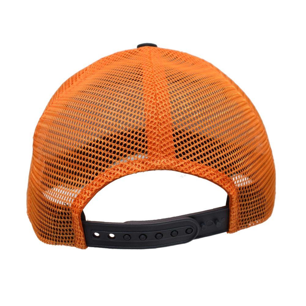Skullz Outdoors Embroidered cap charcoal/neon orange mesh