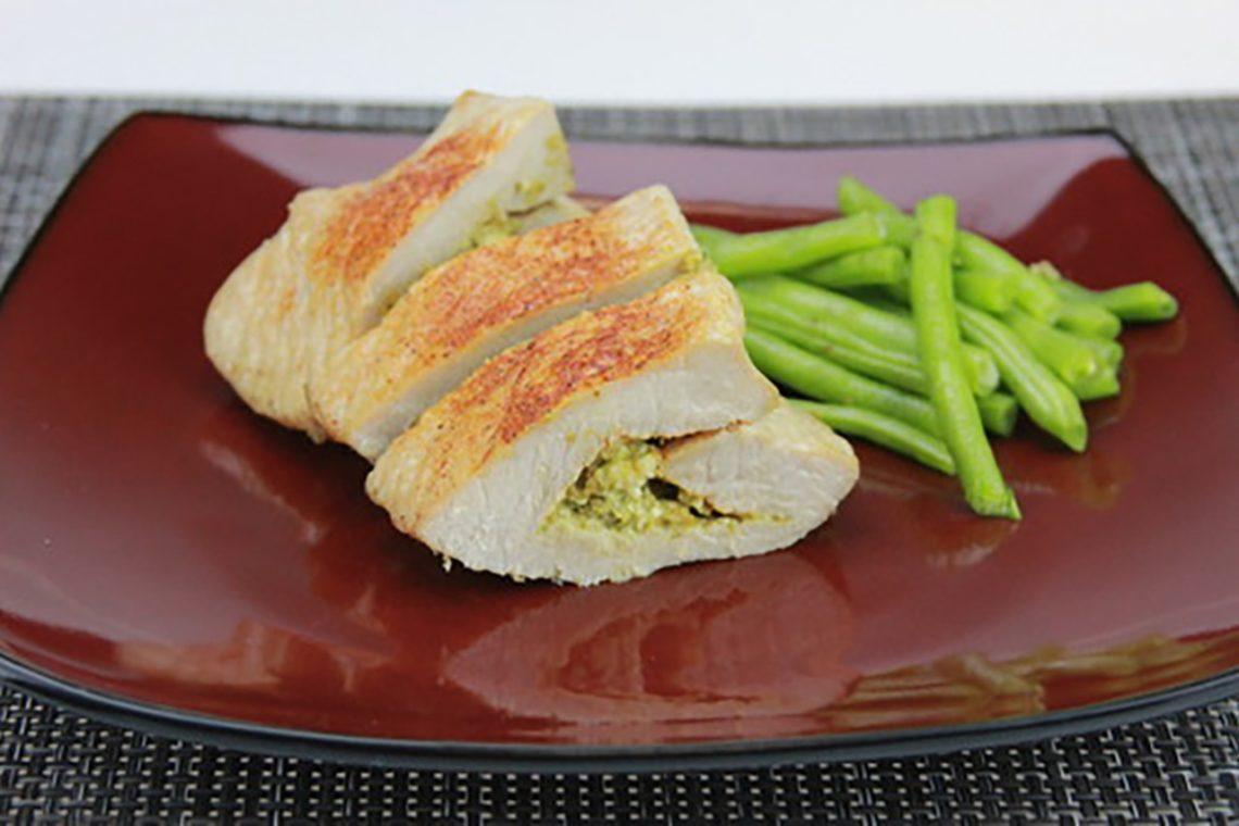 Pesto-Stuffed Pork Loin