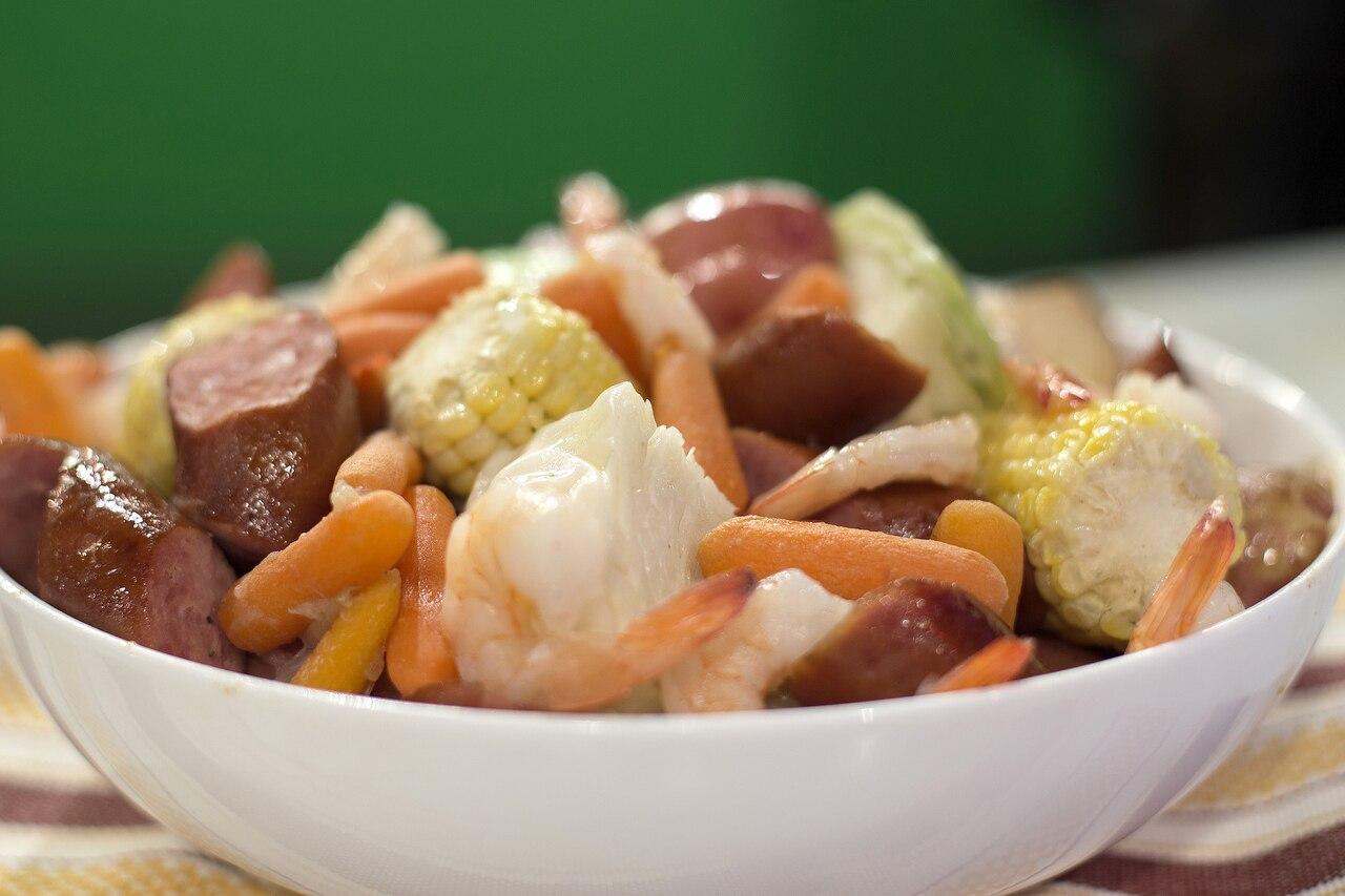 Shrimp and Sausages