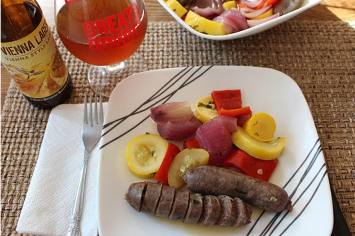 Venison Sausage in Beer