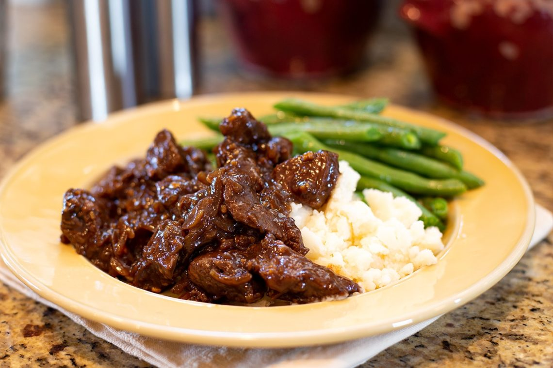 CanCooker Beef Tips Recipe