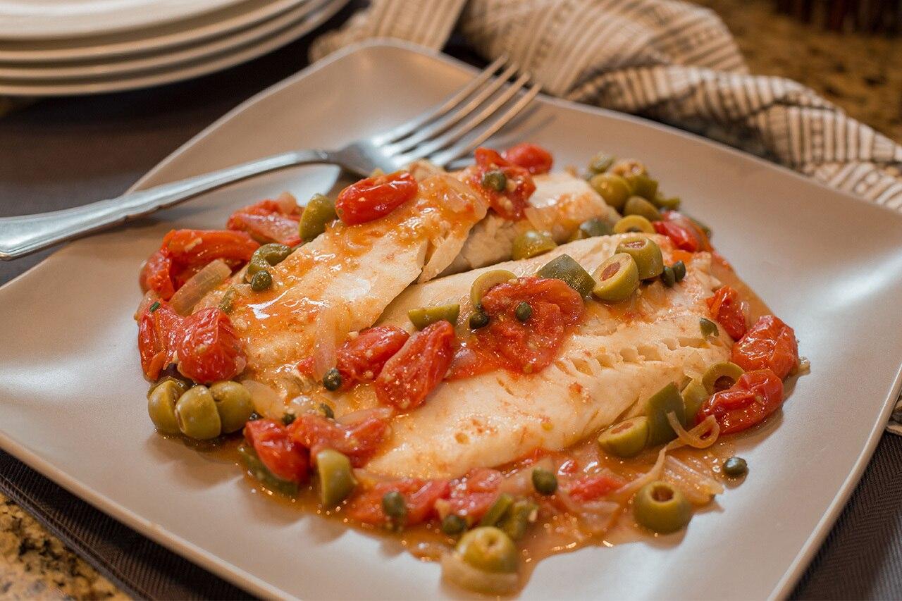 Veracruz-Style Flaky Fish