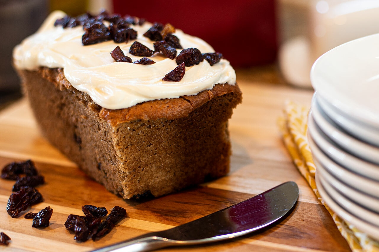 Cranberry Spice Cake with Cream Cheese Frosting