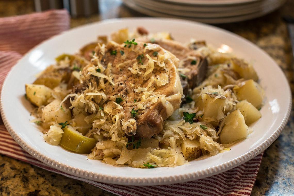 Pork Chops and Sauerkraut