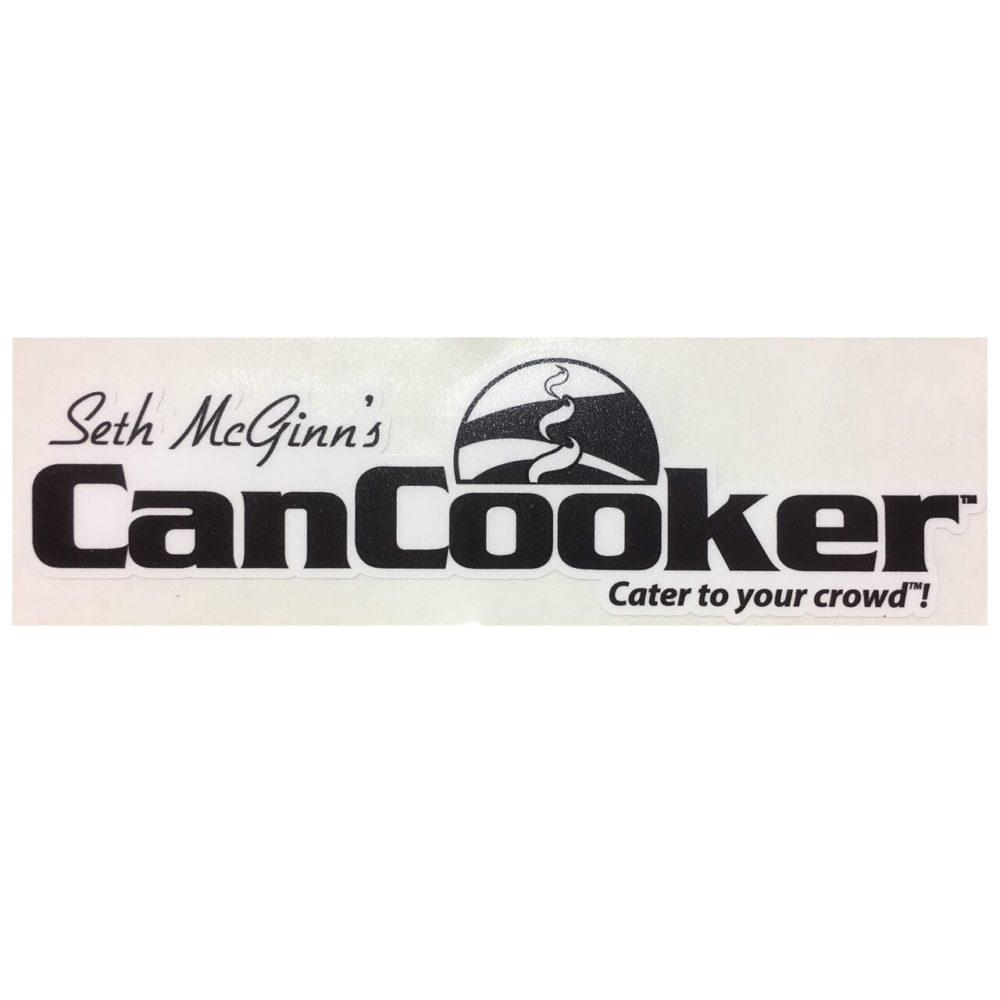 CanCooker Black and White Sticker
