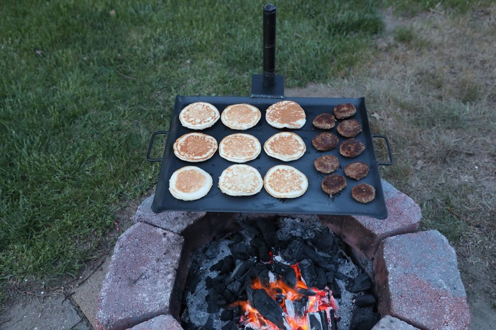 Gravity Grill griddle