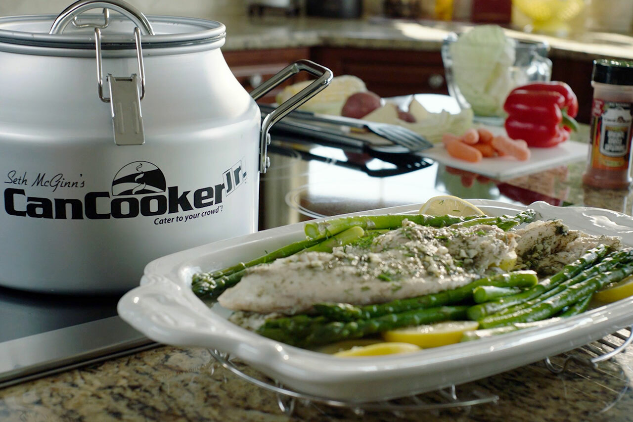 CanCooker Tilapia with Asparagus
