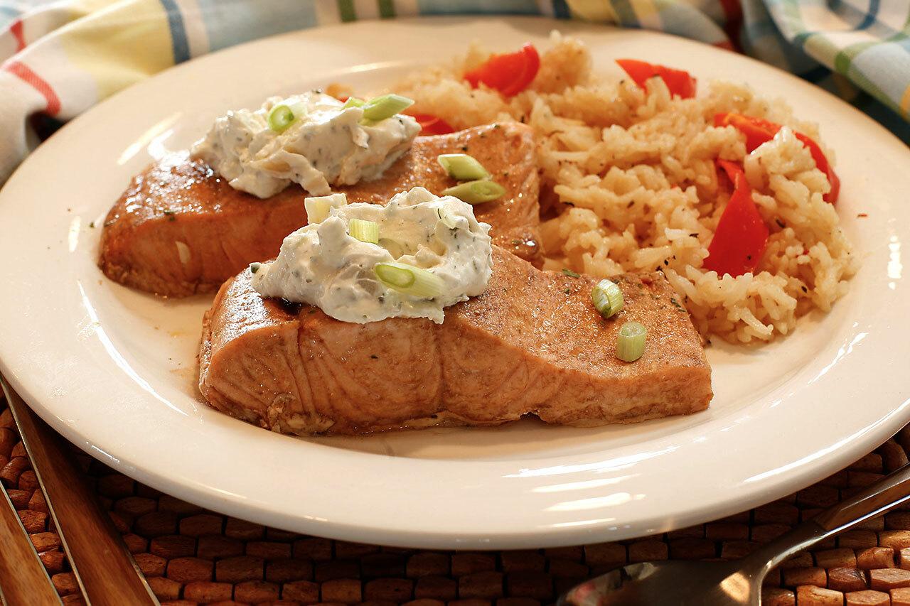 Garlic Herb & Artichoke Salmon