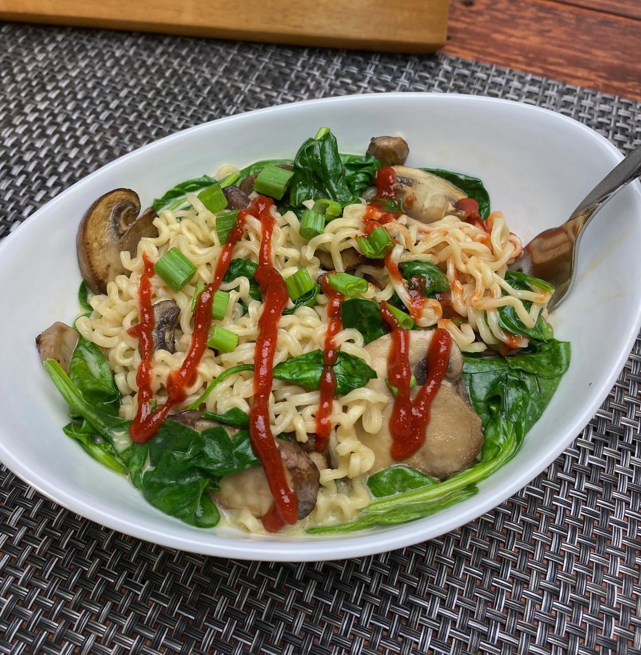 Vegan Creamy Mushroom Ramen
