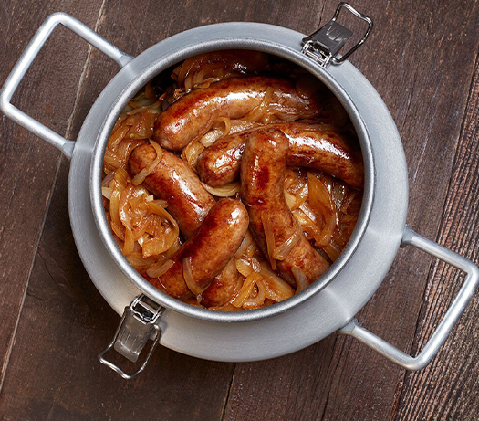 Caramelized Onions and Brats